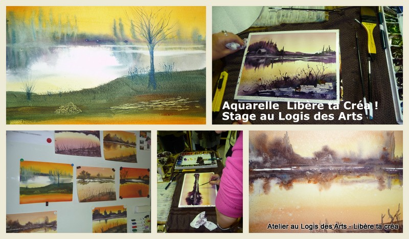 Stage aquarelle avec P.Printemps