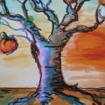Pastel arbre